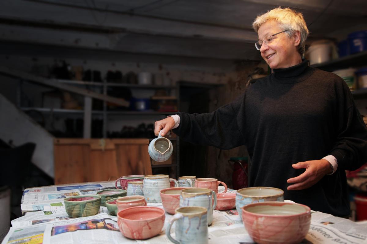 Sabines Keramik ist filgran