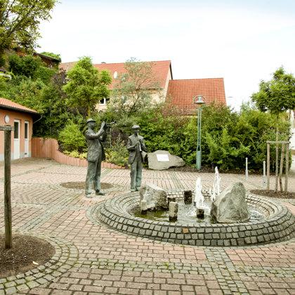 Musikantenbrunnen am Dorfplatz