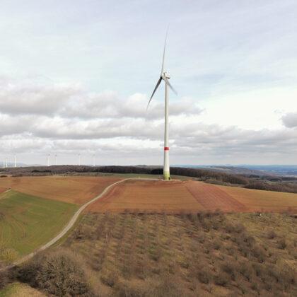21.03.2021 | Blick auf neues Windrad aus 70 Metern Flughöhe | Foto: M. Jung