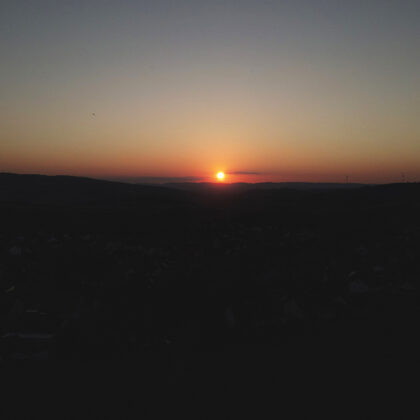 03.09.2021   Sonnenuntergang oberhalb der Bergwies, per Drohne fotografiert   Foto: M. Jun