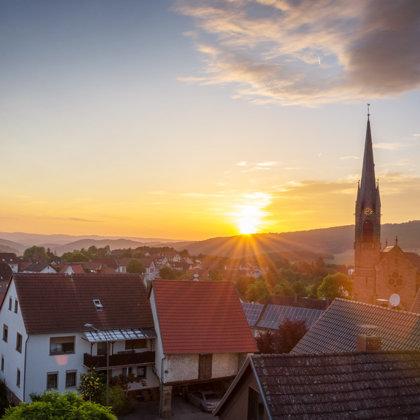 Sonnenschein über dem Kusler Land | Foto: M. Backes Mai 2019